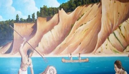 Native American Fishing Mural