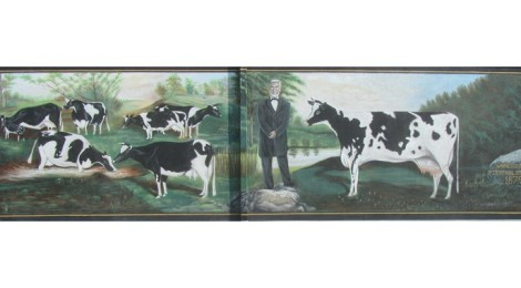 First herd of Holstein Cattle Mural