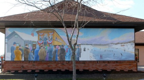 Lincoln's Visit to Clyde Mural