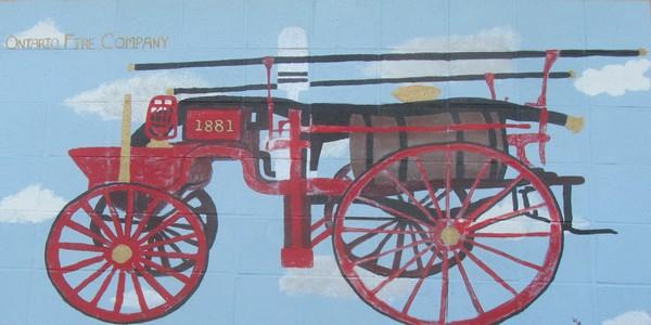 Ontario Fire Dept. Mural 600x300